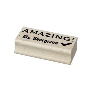 "Positive ""AMAZING!"" Teacher Rubber Stamp"