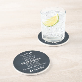 Positive Attitude Affirmations Quotes Drink Coaster