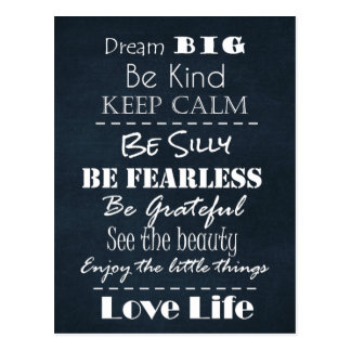 Positive Attitude Affirmations Quotes Postcard