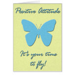 Positive Attitude Butterfly Greeting Card