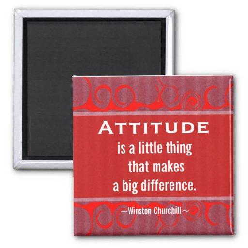 Positive Attitude-Churchill Quotation - Motivation Refrigerator Magnets
