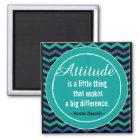 Positive Attitude Churchill Quotation Motivational Magnet