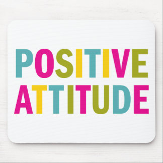 Positive Attitude in bright colors Mouse Mat