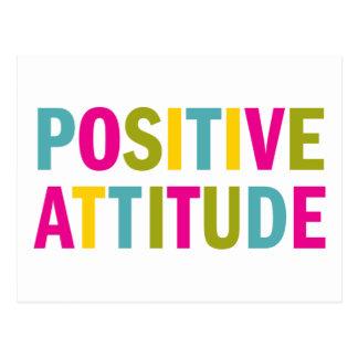 Positive Attitude in bright colors Postcard