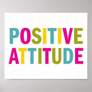 Positive Attitude in bright colors Poster