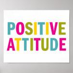 Positive Attitude in bright colours Poster