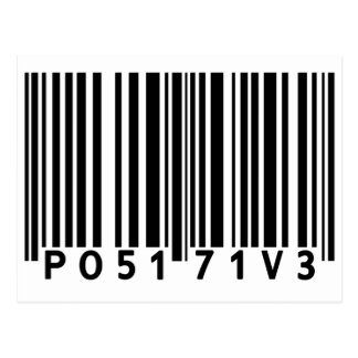 Positive Barcode Post Card
