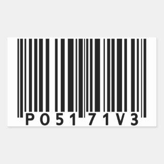 Positive Barcode Rectangular Sticker
