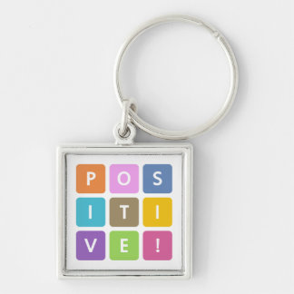 Positive Cubes Collection Keychain