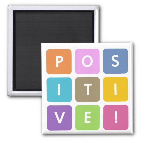 Positive Cubes Collection Square Magnet