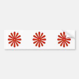 Positive Energy Flower Circles Fire Flare LOWPRICE Car Bumper Sticker