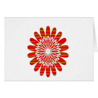 Positive Energy Flower Circles Fire Flare LOWPRICE Greeting Card