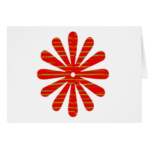 Positive Energy Flower Circles Fire Flare LOWPRICE Card