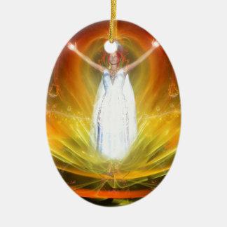 Positive Energy Goddess Ceramic Oval Decoration