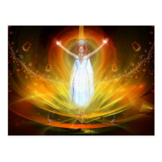 Positive Energy Goddess Postcard