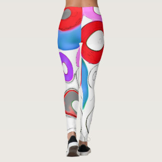Positive  energy   red circles   leggings