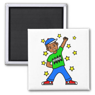 Positive Image African American Winner Boy Magnet