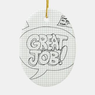 Positive Job Reinforcement Messages Ceramic Oval Decoration