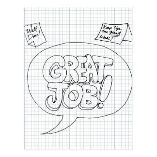 Positive Job Reinforcement Messages Postcard