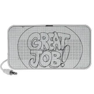 Positive Job Reinforcement Messages iPod Speakers
