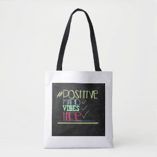 Positive life chalkboard Quote Tote Bag