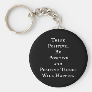POSITIVE LIFE MOTIVATIONAL QUOTES THINK ACT MOTTO KEY RING