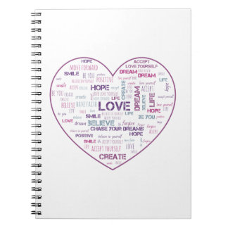 Positive life word cloud notebook