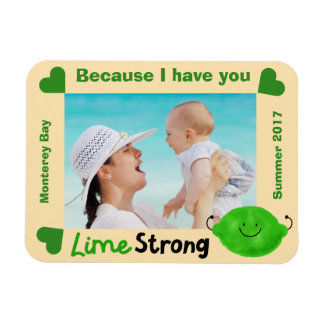 Positive Lime Pun - Lime Strong Magnet