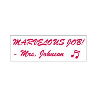 """Positive """"MARVELOUS JOB!"""" Teacher Rubber Stamp"""