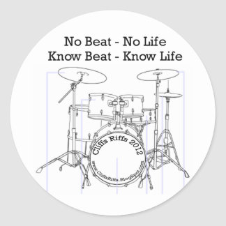 Positive message for drummers, musicians, dancers classic round sticker