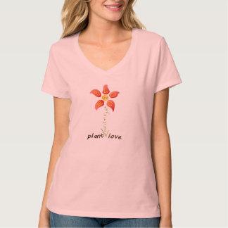 Positive Message Pink Love Flower Shirt