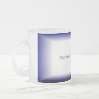 Positive Minds Succeed Frosted Glass Mug