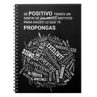 Positive notebook