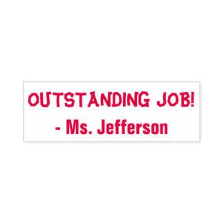"""Positive """"OUTSTANDING JOB!"""" + Custom Teacher Name Self-inking Stamp"""