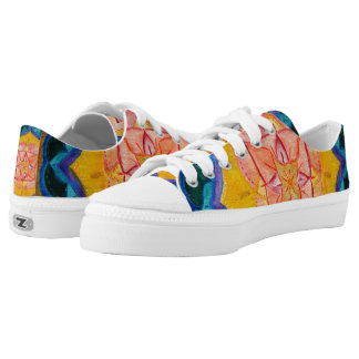 Positive Summer Mandala Custom Zipz Low Top Shoes Printed Shoes
