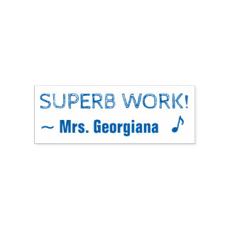 "Positive ""SUPERB WORK!"" Teacher Rubber Stamp"