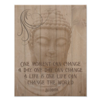 Positive Thinking Affirmation Buddhist Saying Poster