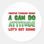 Positive Thinking Round Sticker