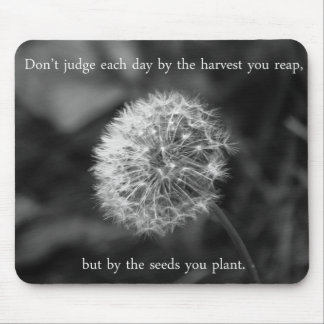 Positive Thinking Saying with Dandelion Mouse Mat