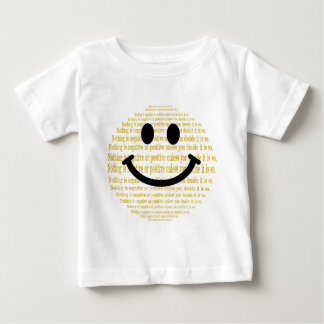 Positive Thinking Smiley Baby T-Shirt