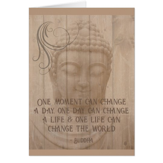 Positive Thought Daily Affirmation Buddhist Saying Card