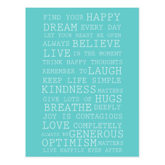 Positive Thoughts Postcard