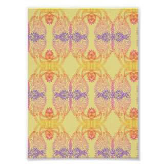 Positive Vibes Paisley Pattern Poster