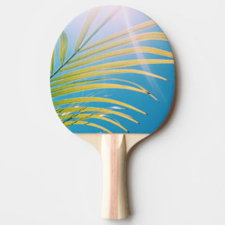 Positive Vibes Sunny Palm Tree Ping Pong Paddle