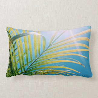 Positive Vibes Sunny Palm Tree Throw Pillow