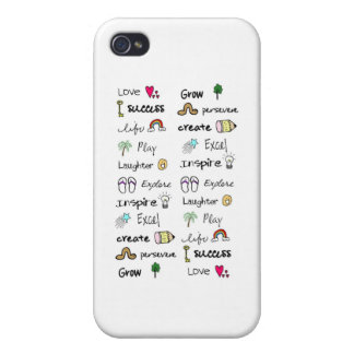 Positive Words Iphone 4 Skin iPhone 4/4S Cover