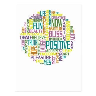 Positive Words Postcard