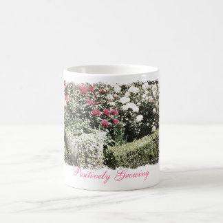 "Positively Growing ""Potted Rose"" Coffee Mug"