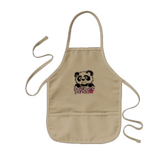 Positively Panda (Flower) Aprons