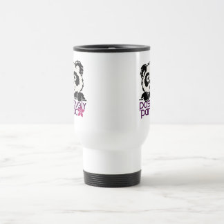 Positively Panda (Flower) Stainless Steel Travel Mug